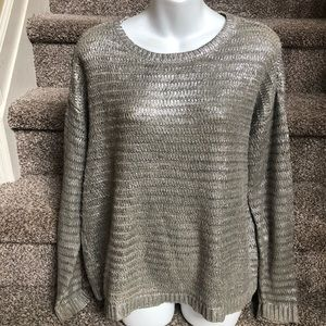 Metallic Silver Sweater by a.n.a